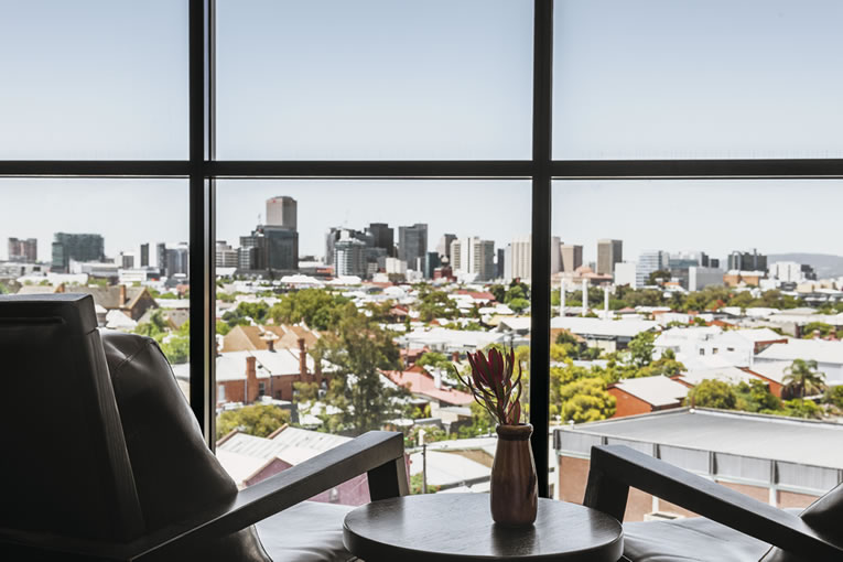 Adelaide city skyline - Restaurant with a view